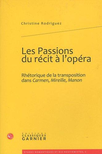 """""""les passions du récit à l'opéra ; rhétorique de la ..."""