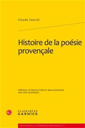 histoire de la poésie provençale ; coffret t.5 à t.7: Claudio Fauriel