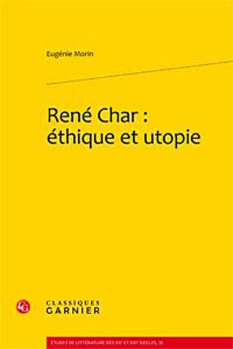 9782812403880: rene char: ethique et utopie