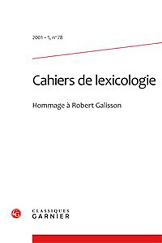 cahiers de lexicologie. 2001-1, n 78