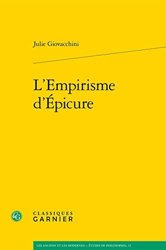 l'empirisme d'epicure: Julie Giovacchini