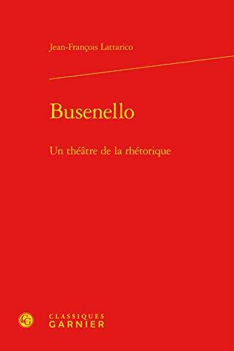 9782812411489: Busenello : Un th��tre de la rh�torique