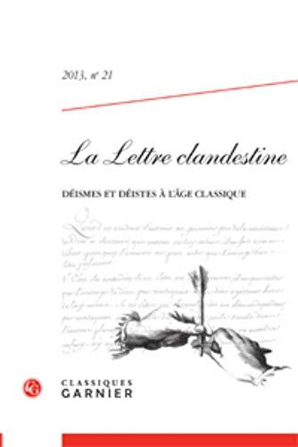 9782812412462: La Lettre clandestine, N° 21/2013 :