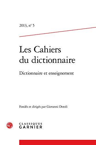 Les cahiers du dictionnaire, N° 5 :