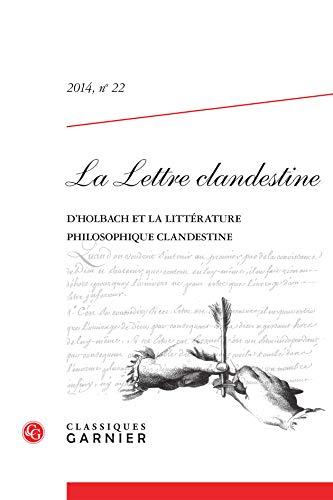 LA LETTRE CLANDESTINE. 2014, N 22 -: COLLECTIF