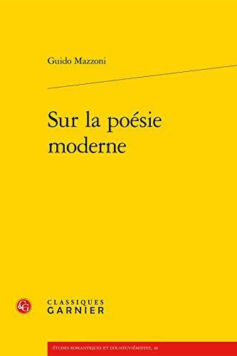 9782812431197: Sur Poesie Moderne