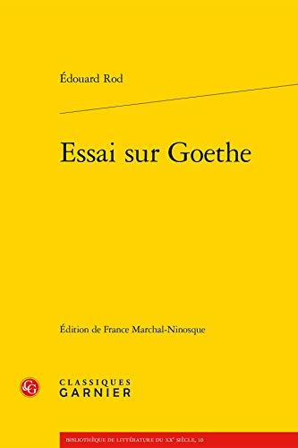 Essai sur Goethe