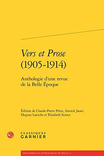 9782812431524: Vers et Prose (1905-1914)