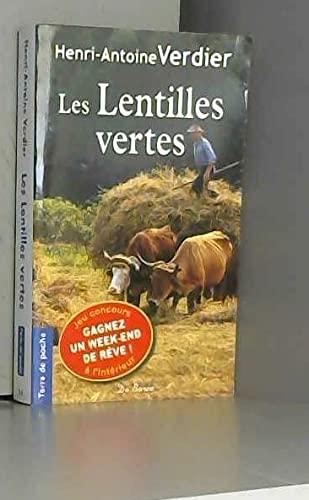 9782812901126: Les lentilles vertes