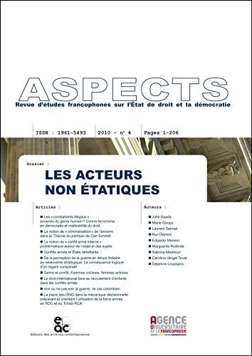 9782813000460: Les acteurs non-étatiques dans les conflits armés, Revue ASPECTS No.4