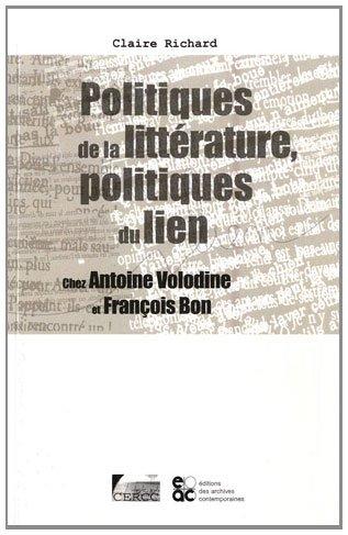 9782813000682: Politiques de la litt�rature, politiques du lien