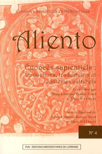 9782814301771: Enoncés sapientiels : traductions, traducteurs et contextes culturels (Aliento)