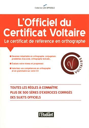 9782817604367: L'officiel du certificat Voltaire