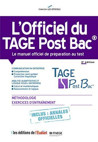 9782817605371: l'Officiel du Tage Post Bac - Le manuel officiel de préparation au test 2e édition