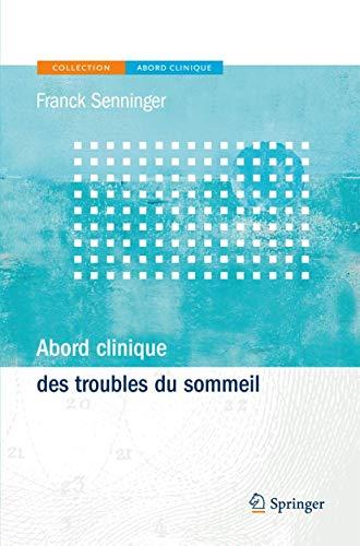 Abord Clinique Des Troubles Du Sommeil: Franck Senninger