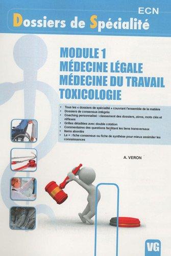 9782818301470: Module 1 M�decine l�gale - M�decine du travail - Toxicologie
