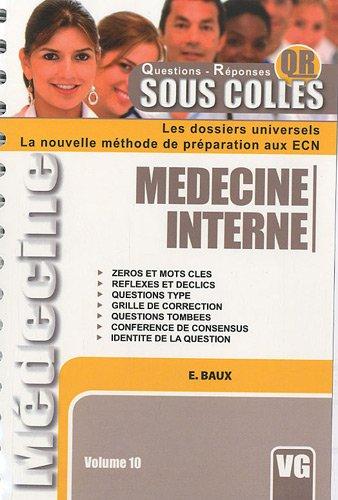 9782818301678: M�decine interne : Volume 10