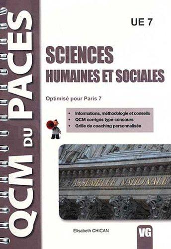 9782818305010: qcm du paces sciences humaines et sociales optimise pour paris 7
