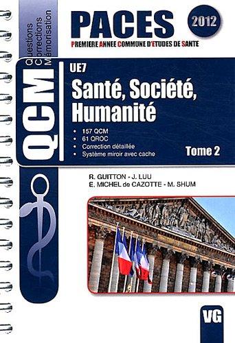 9782818305232: Sant�, soci�t�, humanit� UE7 : Tome 2