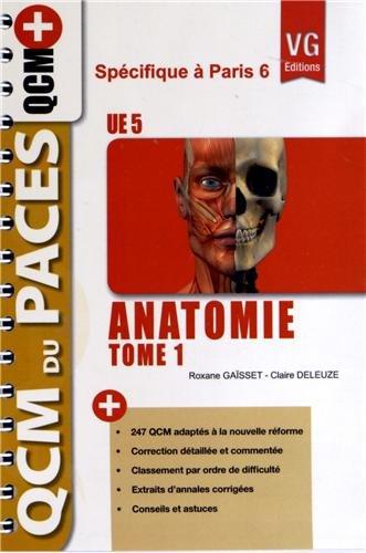 9782818306628: Anatomie UE 5 : Tome 1 sp�cifique � Paris 6