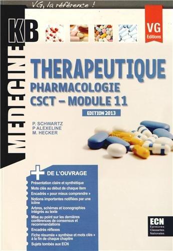 9782818307816: Thérapeutique Pharmacologie module 11 CSCT