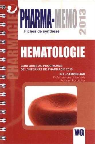 9782818307991: Hématologie : Conforme au programme de l'internat de pharmacie 2010