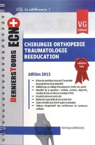 9782818308769: Chirurgie orthopédie traumatologie rééducation