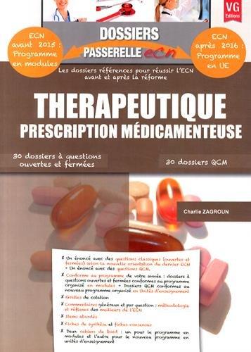 9782818312001: Thérapeutique, prescription médicamenteuse