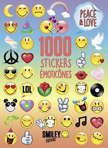 9782821208926: Smiley - Livre d'autocollants - 1 000 stickers émitocônes - Peace & Love - Dès 6 ans