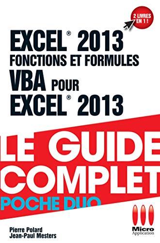 9782822402309: Excel 2013 fonctions et formules et VBA pour Excel 2013