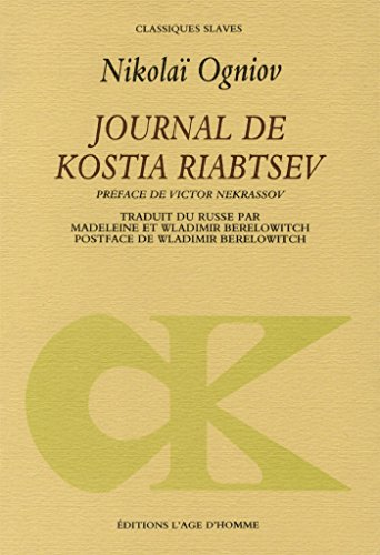 Journal de Kostia Riabtsev