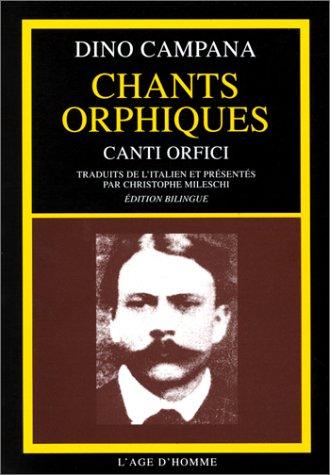 9782825108574: Chants Orphiques