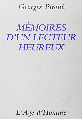 9782825109809: Memoires d'un lecteur heureux: Essai (French Edition)