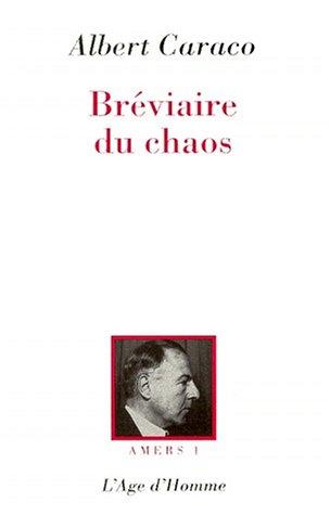 9782825109892: Amers, tome 1 : Le Br�viaire du chaos
