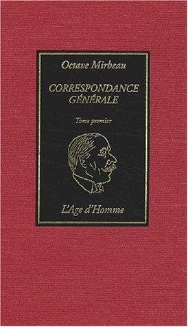 9782825115473: Correspondance générale, tome 1