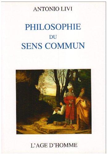 9782825115749: Philosophie du sens commun (French Edition)