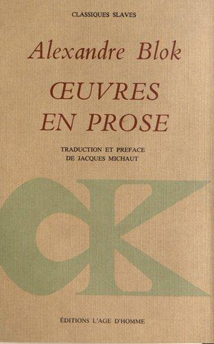 9782825120064: Oeuvres en prose