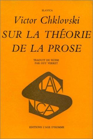 9782825121276: Sur la théorie de la prose