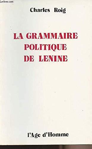 9782825121689: La grammaire politique de Lénine