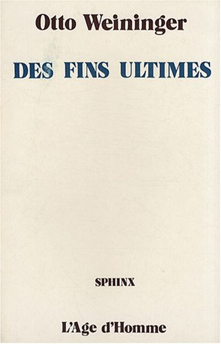 9782825123928: Des fins ultimes (French Edition)