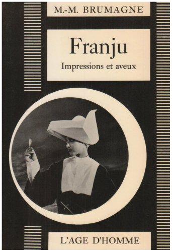 9782825133392: Georges Franju : Impressions et aveux