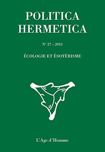 9782825143889: Politica Hermetica 27 - Écologie et ésotérisme