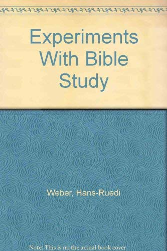9782825406878: Experiments With Bible Study