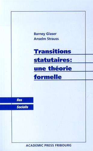 9782827110858: Transitions statutaires : une th�orie formelle