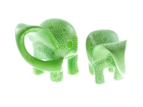 9782830736373: Elephant 15 cm Saponite Vert