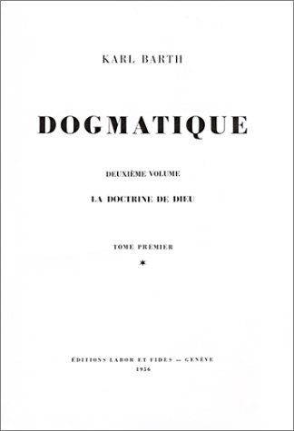 9782830902914: Dogmatique, tome 1