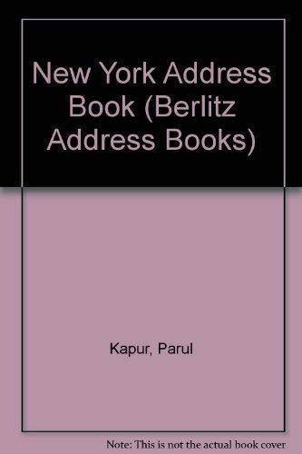 the new york city address book berlitz cityscope by parul kapur