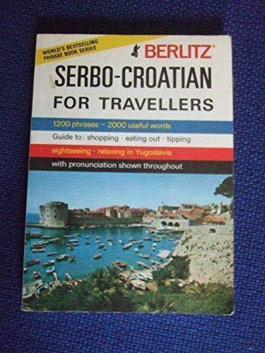 9782831507590: Serbo-Croatian for Travellers (Berlitz)