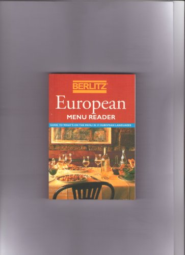 9782831509273: Berlitz European Menu Reader (Berlitz Phrase Books)