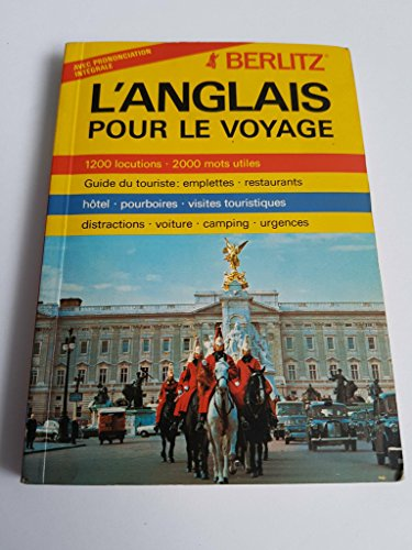 9782831510422: Berlitz L'Anglais Pour Le Voyage/English for French Travellers